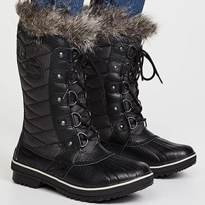 New Sorel Tofino II Black Quilted Boots